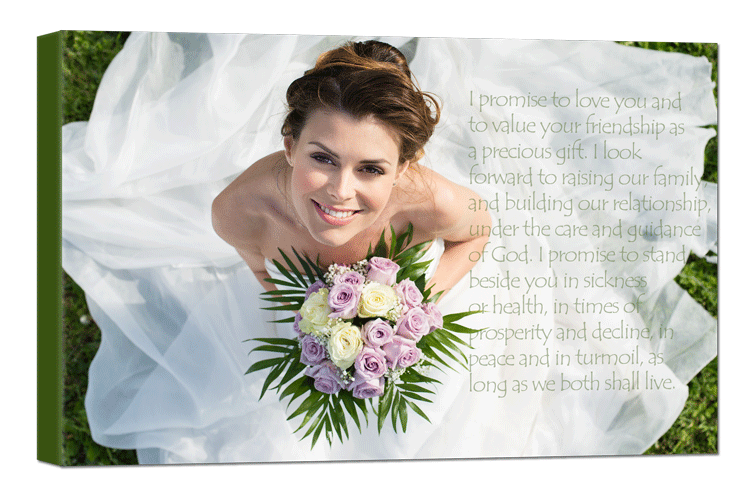 Adding your wedding vows to a photo is a great way to show the committment you made | photoWOW