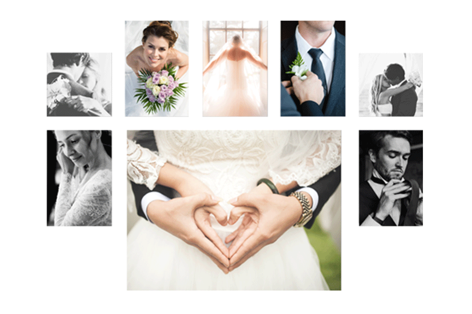 Wall displays are ideal for showing off all your precious wedding memories | photoWOW