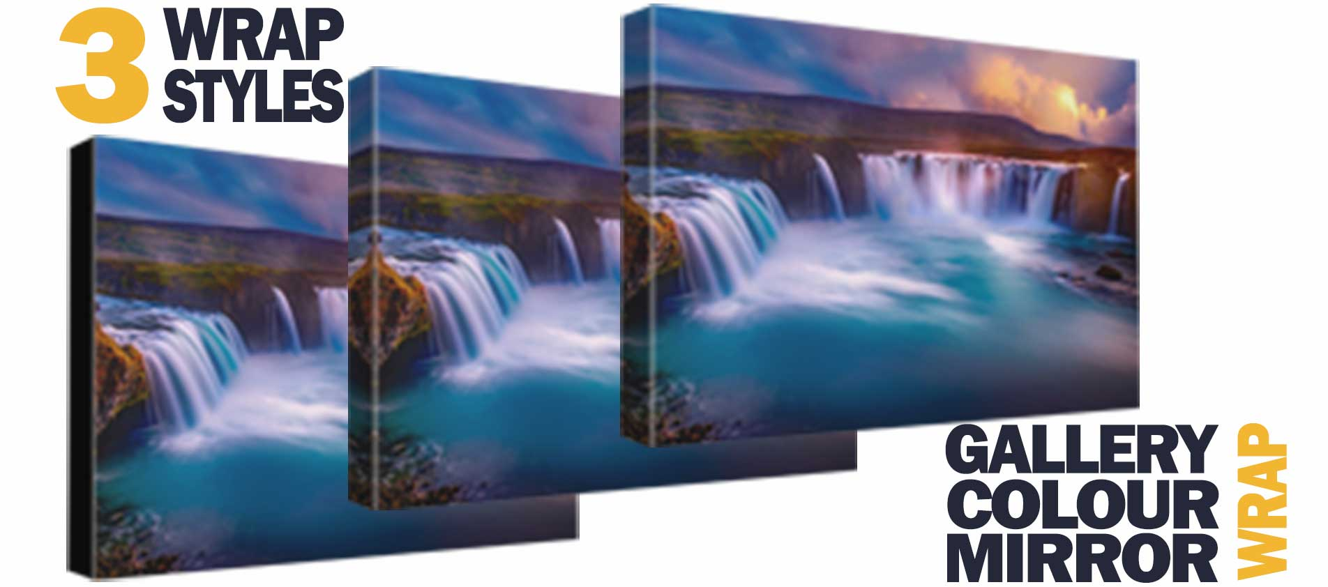 Choice of 3 wrap styles and free lamination at photoWOW Australia