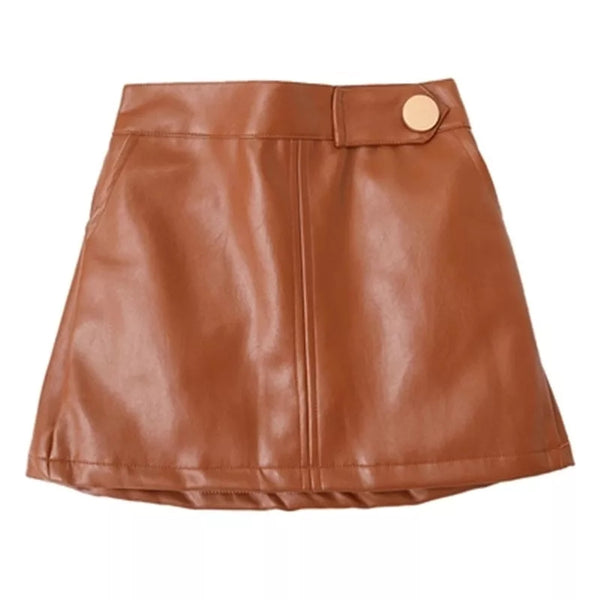 Laura Faux Leather Skirt