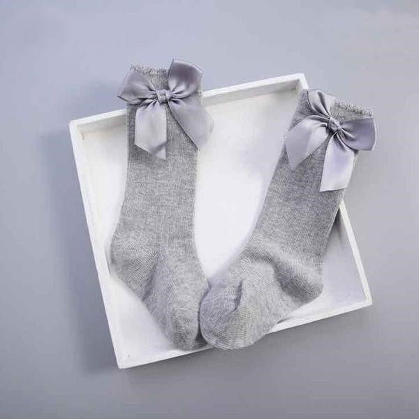 Satin Bow Socks