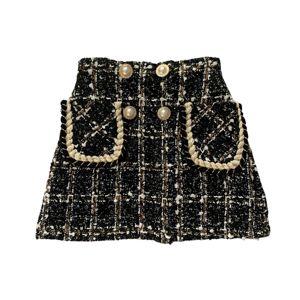 Andrea Luxe Tweed Skirt