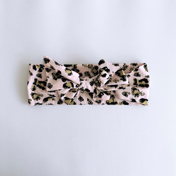 Pretty in Pink Leopard Print Headwrap