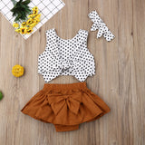 Allie Polka Dot Crop Set