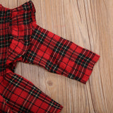 Holly Tartan Sleeved Romper Set