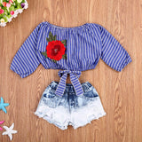 Sofia Denim Shorts Set