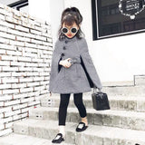 Mikayla Plaid Cape Coat
