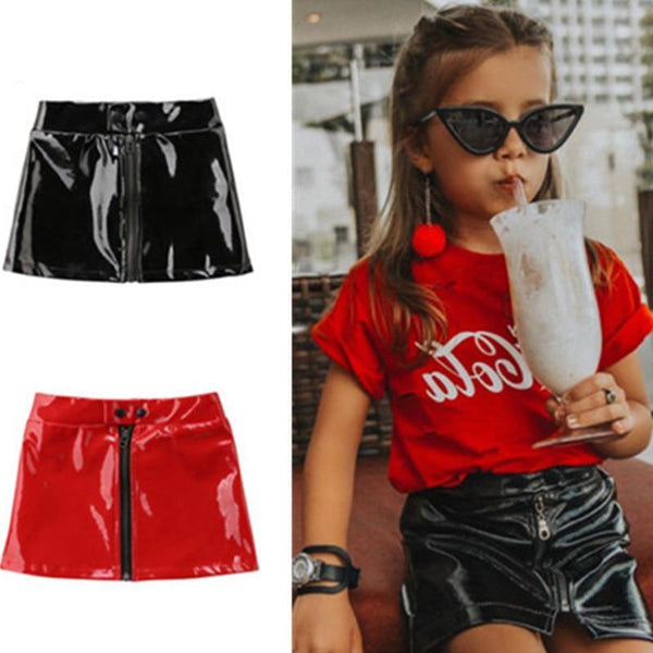 Naomi Faux Leather Skirt