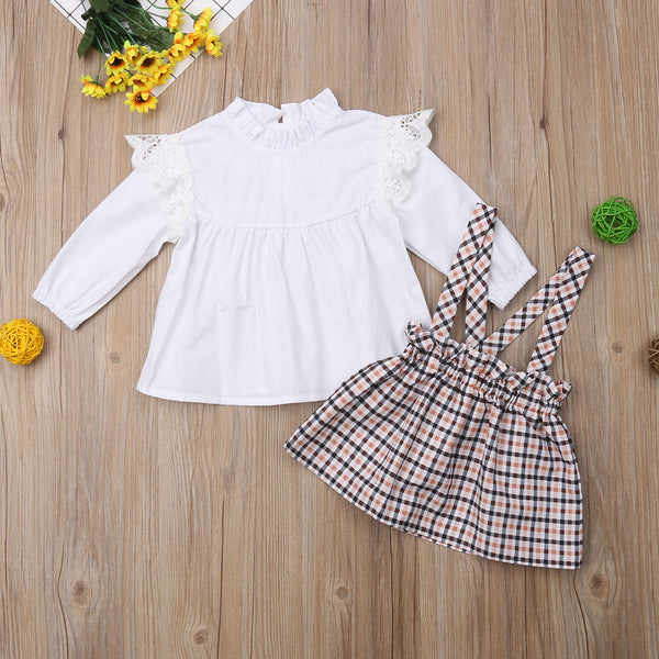 Karinne Plaid Pinafore Set