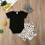 Brianna Leopard Shorts Set