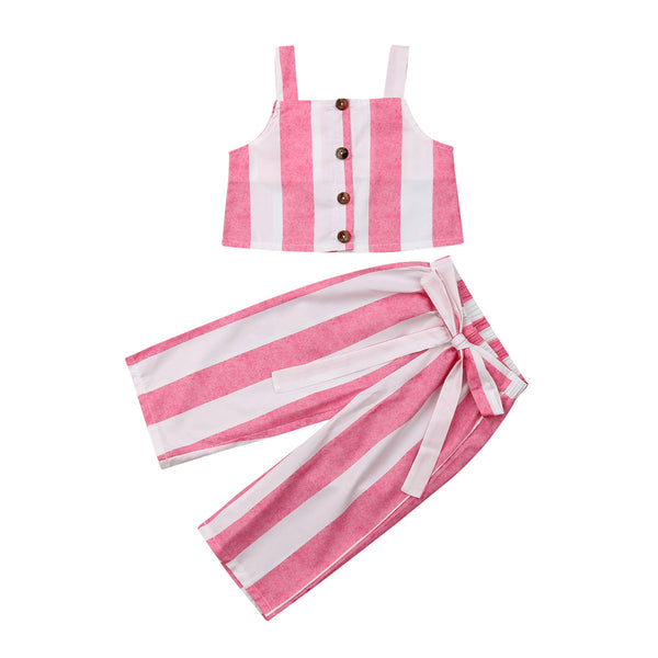 Charlie Stripe Crop set