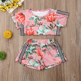 Kourtney Floral Crop Set