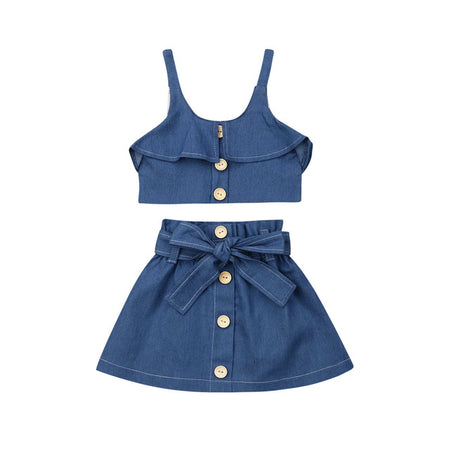 Amelia Denim Bloomers Set