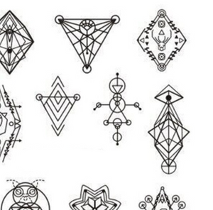 Sacred Geometry Water Transfer Sticker Nail Art Decals - 1 Sheet