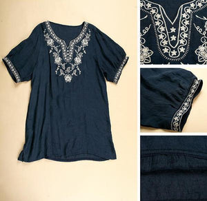 Vintage 70's Mexican Style Embroidered Top - 2 Colors