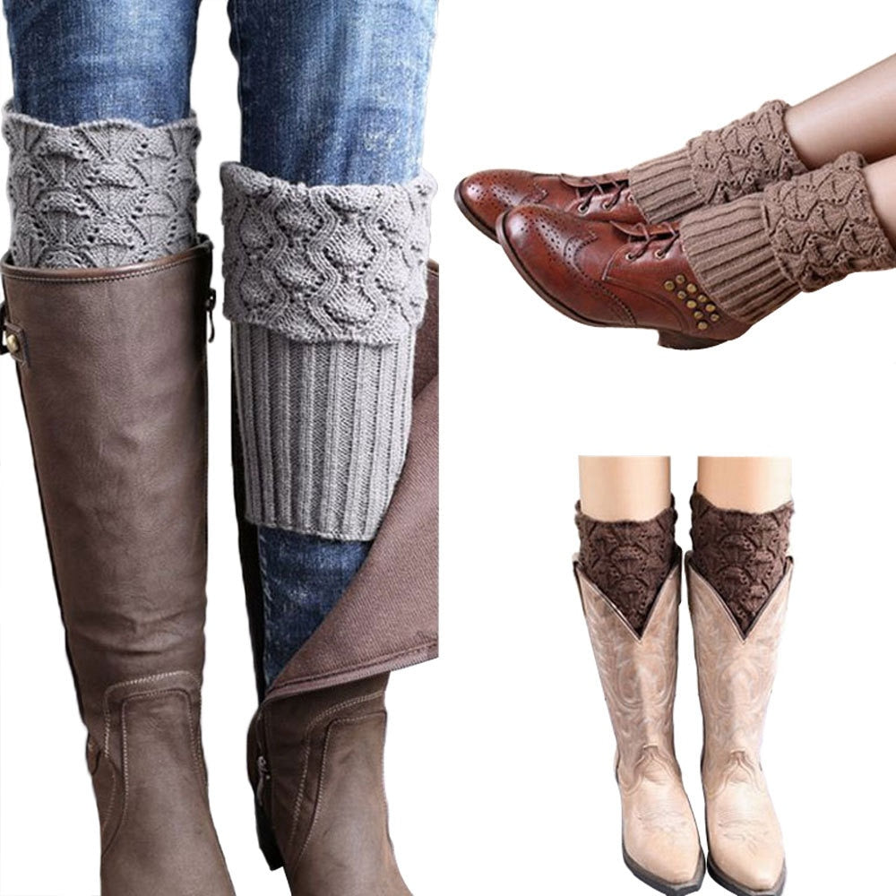 Crochet Knitted Boot Cuffs - 9 Colors
