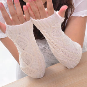 Pair of Cozy Cable Knit Arm Warmers - 7 Colors