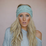 Solid Wide Knit Crochet Woolen Headband - 24 Colors