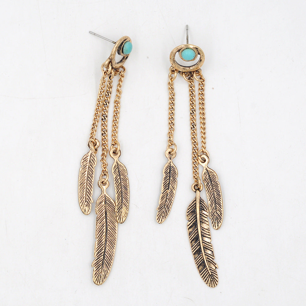 Dangly Feather Earrings - 2 Colors