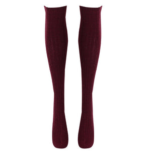 Stockings 7 Colors Fashion Women's Stockings Sexy Warm Thigh High Over The Knee Socks Long Cotton Stockings Girls Ladies Women