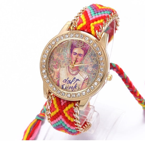 Boho Friendship Bracelet Frida Kahlo Watch - 8 Styles