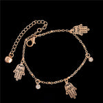 Delicate Good Luck Hamsa Bracelet or Anklet
