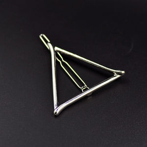 Geometric Triangle Hair Clip - 2 Colors