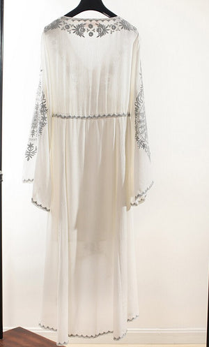 Vintage Style Bohemian Hippie Embroidered Maxi Dress - 5 Colors