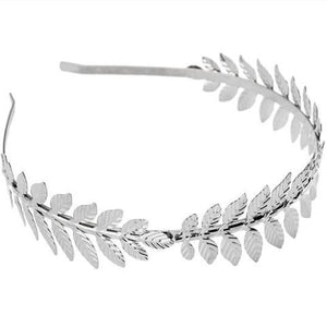 Baroque Gold or Silver Metal Leaf Headband