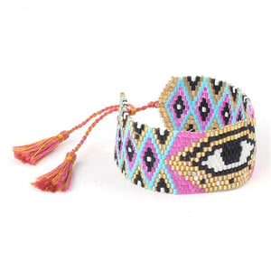Good Luck Third Eye Beaded Bracelet