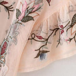 Feminine Sheer Floral Embroidered Top - 2 Colors