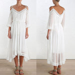 Sheer & Lacey Boho Maxi Dress