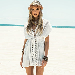 Light Lace Mini Dress Cover Up