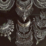 Vintage Style Chunky Antique Silver Necklace - 10 Styles