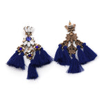 JUJIA MINI FALCON Tassel Earring Make a boho luxe statement fashion fringed statement stud earring Fringing earrings jewelry