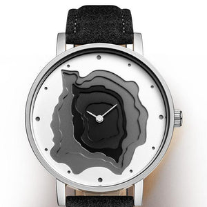 Modern Geological Topographic Map Watch - 4 Colors