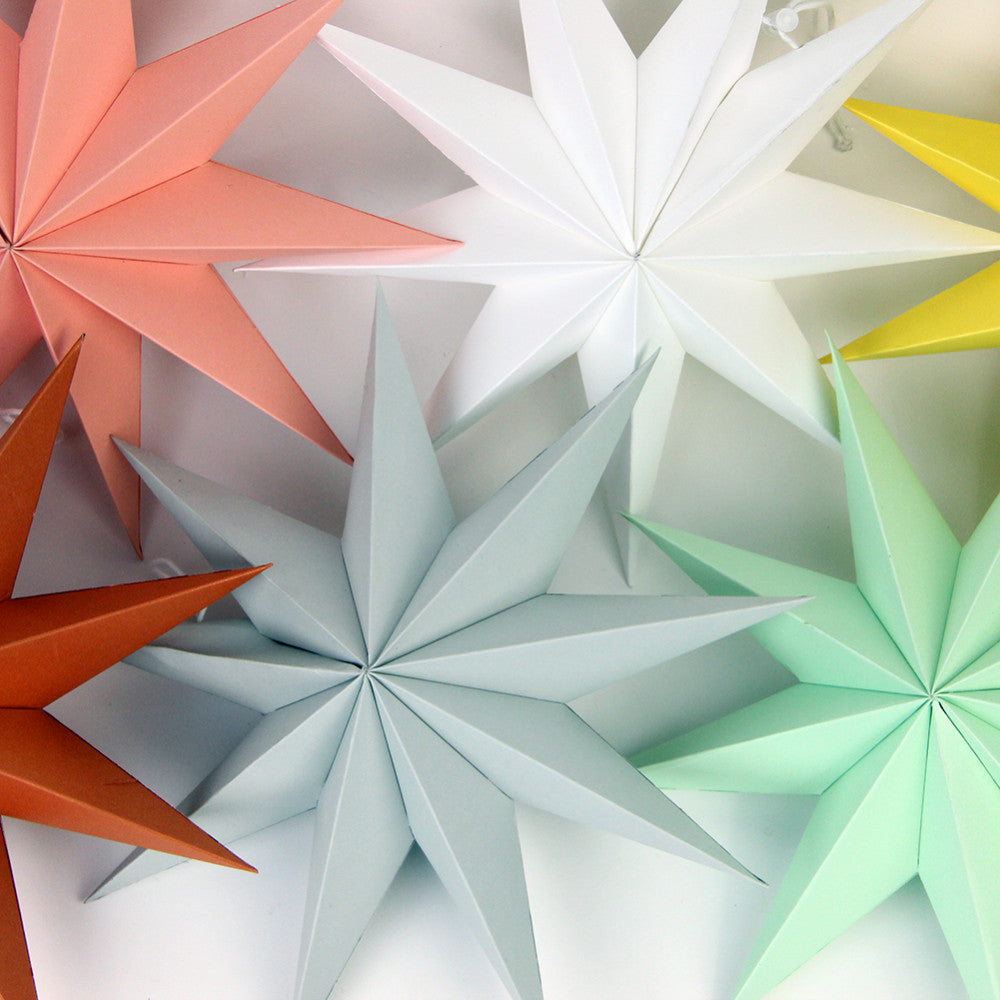 Nine Pointed Hanging Paper Star - 11 Colors