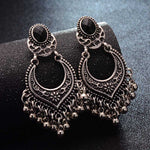 Antique Styled Dangly Bead Tassel Statement Earrings - 2 Colors