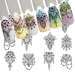 Chandelier Dot Pattern Water Transfer Sticker Nail Art Decals - 1 Sheet