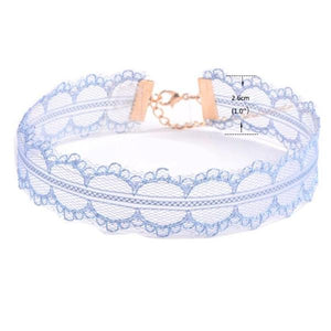 Rainbow Lace Chokers - 12 Choker Set