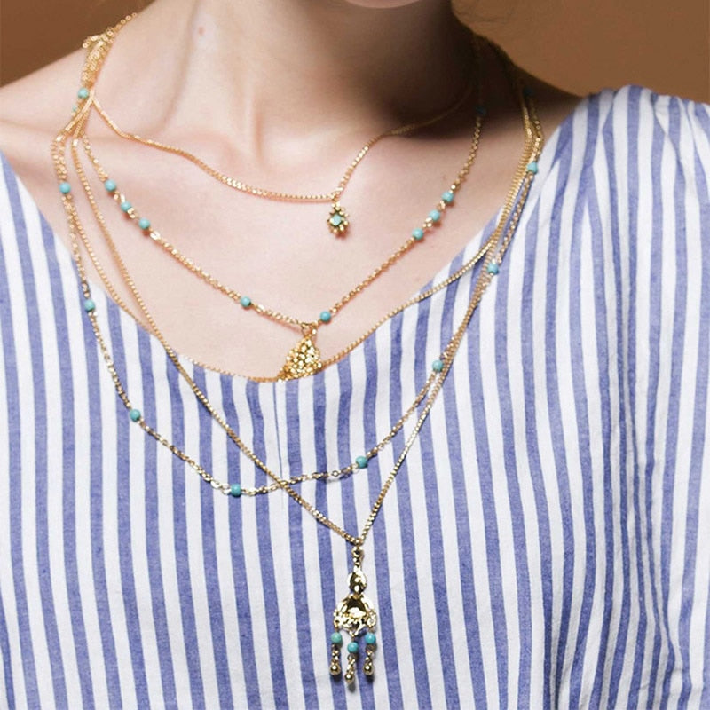 Multilayered Vintage Style Bohemian Necklace