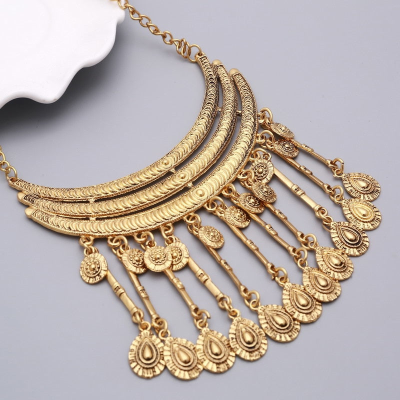 ZOSHI fashion 2017 Maxi Brand boho power brand collar choker necklace vintage gypsy ethnic statement necklace women Jewelry