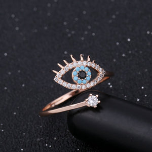 Third Eye Lucky Eye Cubic Zirconia Ring