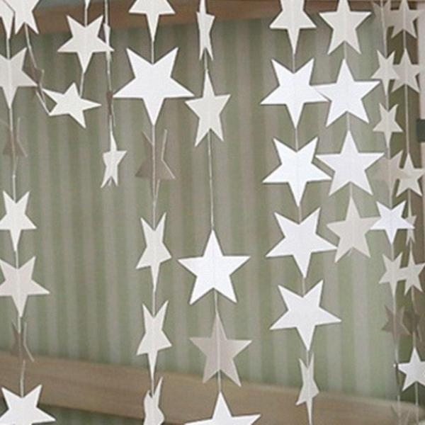 Paper Star Garland - 3 Colors