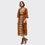Floral Embroidery Bohemian Dress - 10 Colors