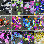 1Set Ultrathin Sequins Nail Art Glitter Mini Paillette Colorful Round 3d Nail Decorations Mixed Size Manicure Accessories BEP