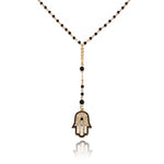 Delicate Hamsa Hand Drop Necklace