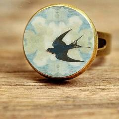 Vintage & Tattoo Sparrow Rings - 8 Styles