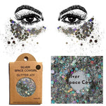 "Festival Glitter - ""Space Cowgirl"" - Light Silver Holographic Mixed Shapes"