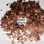 "Festival Glitter - ""Super Star"" - Rose Gold Stars"